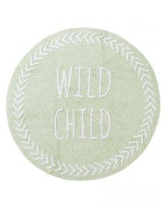 Washable Kid´s Rug Inka Wild Child Light Green