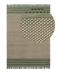 Wool rug Tolga Cream/Green