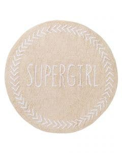 Washable Kid´s Rug Inka Supergirl Beige