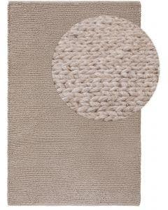 Wool rug Uno Light Grey