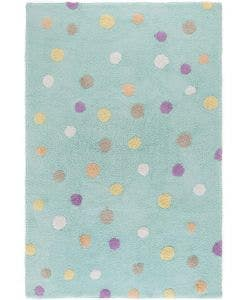 Washable Kid´s Rug Bambini Dots Turquoise
