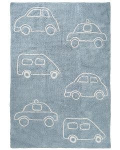 Washable Kid´s Rug Bambini Cars Blue