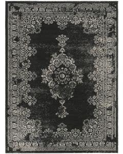Rug Antique Black/White