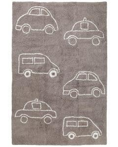Washable Kid´s Rug Bambini Cars Taupe