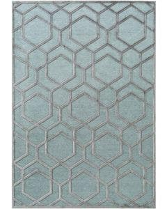 Viscose Rug Woody Light Blue
