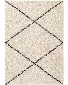 Shaggy rug Beni Cream