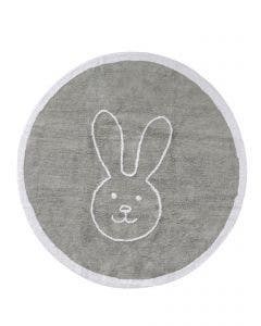 Washable Kid´s Rug Bambini Bunny Grey