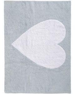 Washable Kid´s Rug Bambini Heart Blue