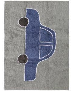 Washable Kid´s Rug Bambini Car Blue