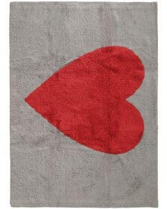 Washable Kid´s Rug Bambini Heart Grey