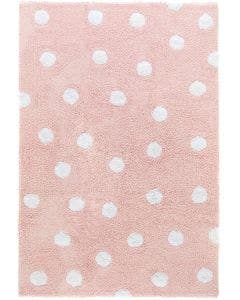 Washable Kid´s Rug Bambini Dots Rose