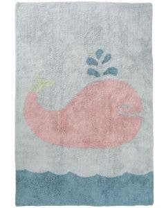 Washable Kid´s Rug Bambini Whale Blue