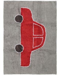 Washable Kid´s Rug Bambini Car Red