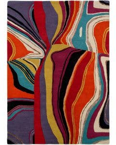 Wool rug Aurora Multicolour