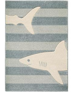 Kids rug Justin Shark Blue