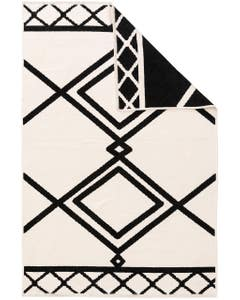 Reversible Rug Lola Black/White