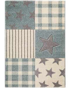 Kids rug Justin Stars Light Blue