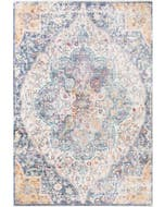 Viscose Rug Yuma Multicolour/Blue