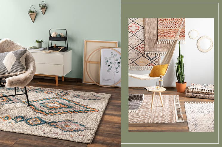 rugs for boho chic ethno interior