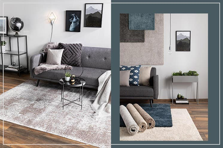rugs for industrial chic interior