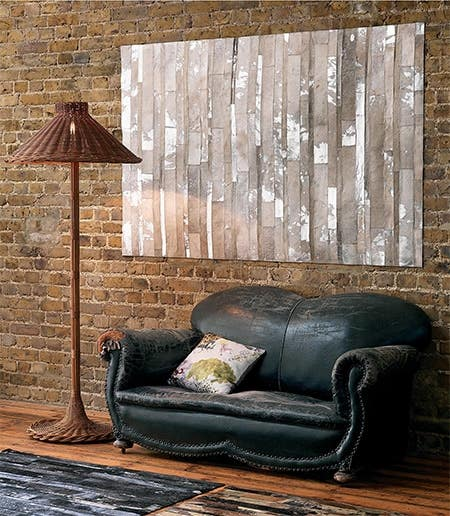 hang your leather rug as wall decoration