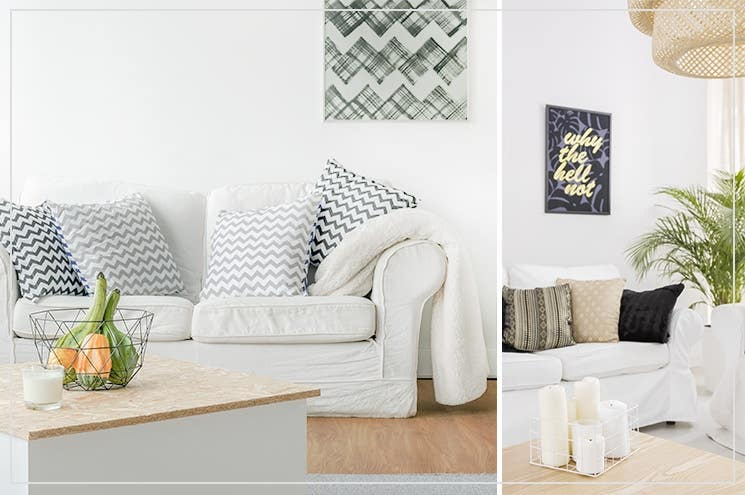 living Hygge with candles, cushions, blankets