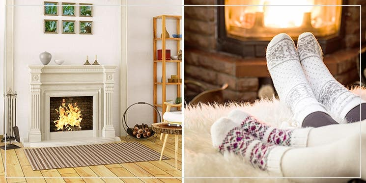 live Hygge with a chimney fire place